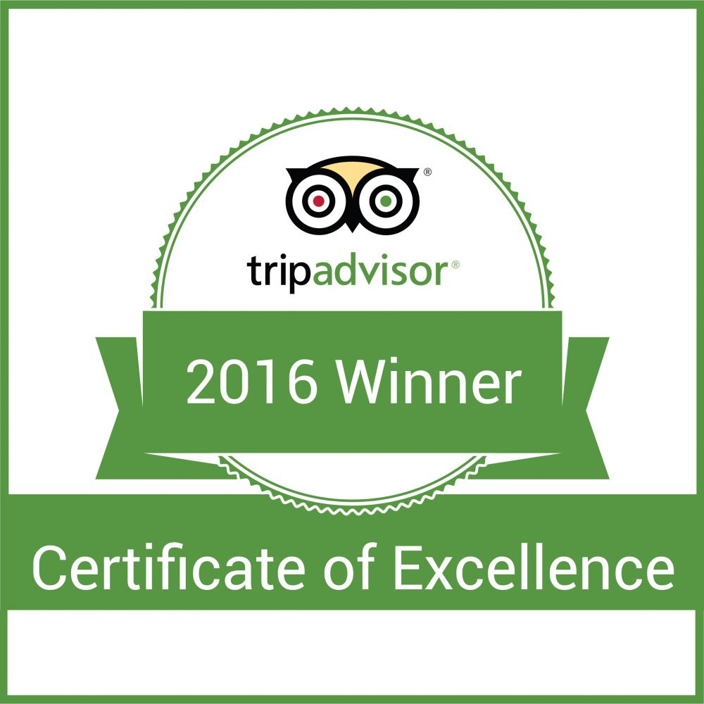 Lyon Grill Earns 2016 Tripadvisor Certificate of Excellence